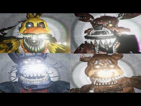 Five Nights at Freddy's 4 3D JUMPSCARES + SECRET