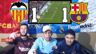 BARA GOT ROBBED IN 1-1 DRAW AGAINST VALENCIA - LIVE REACTION