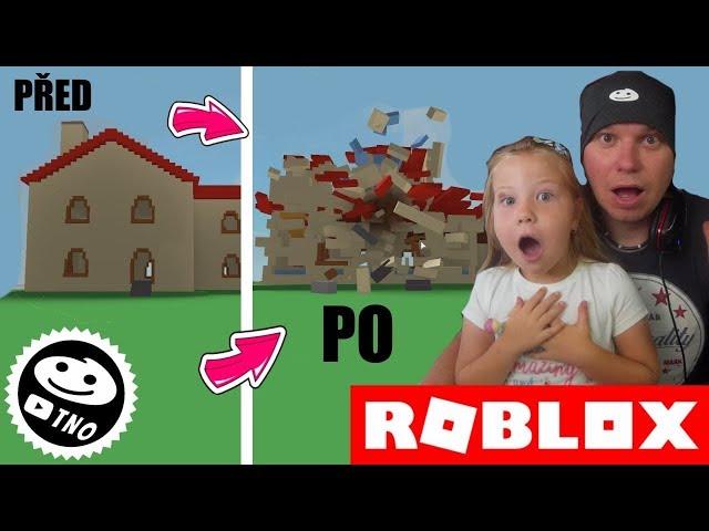 DEMOLUJEME DOMY - NEW! ????Destruction Simulator | Roblox | Tatínek a Barunka CZ/SK