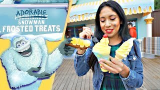New Adorable Snowman Frosted Treats at Pixar Pier! | Disney California Adventure