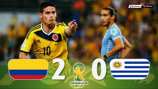 Colombia 2 x 0 Uruguay ● 2014 World Cup Extended Goals & Highlights HD