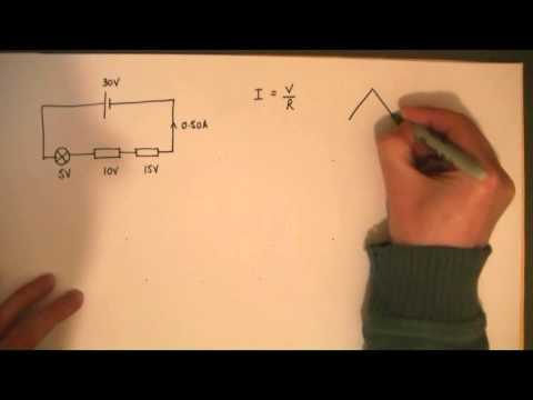 Current, voltage and resistance in series circuits