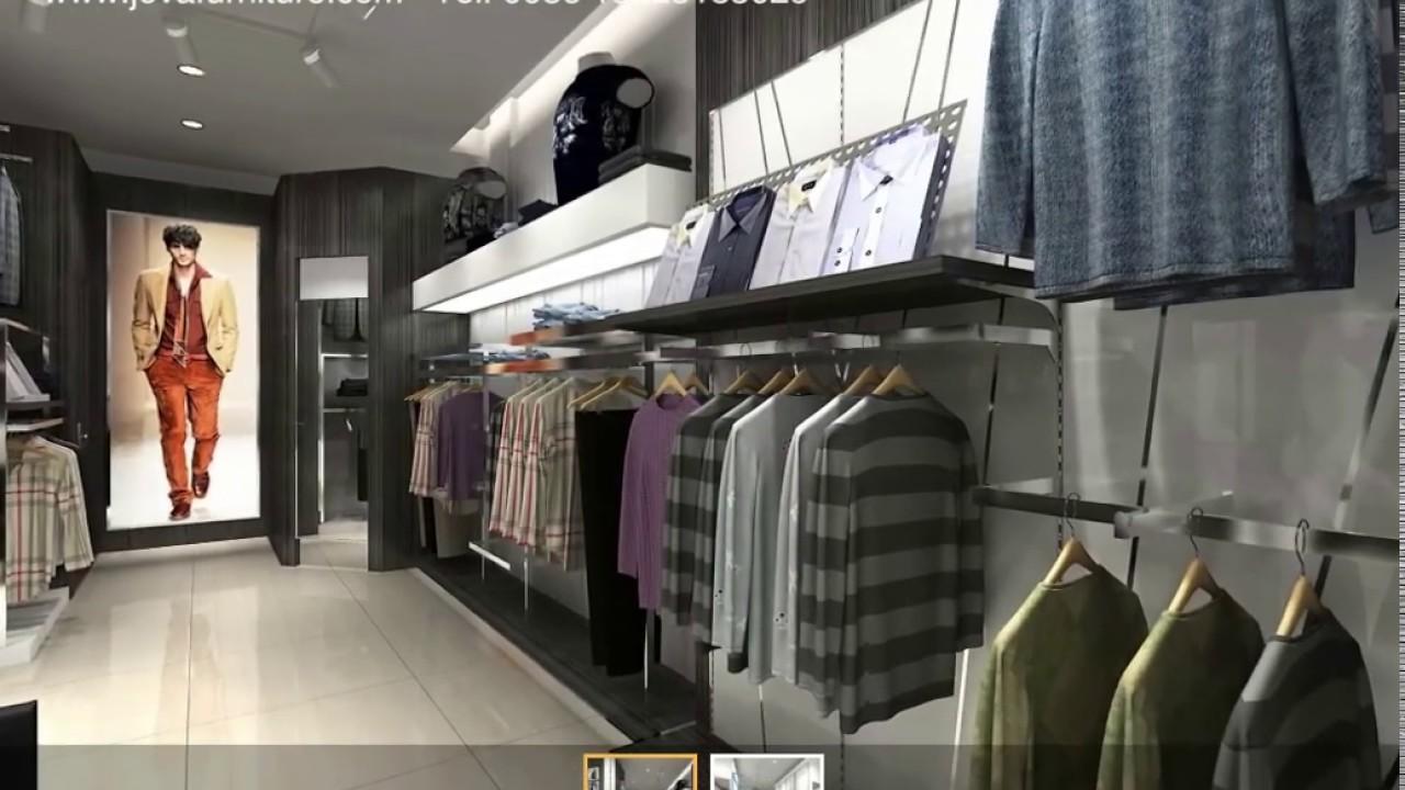 Menswear Shop Interior Design 3d Clothing Display Ideas Youtube