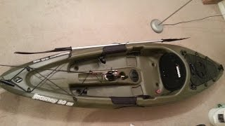Amazing $300 Walmart Kayak(Sun Dolphin Journey 10 SS. 10 foot 44 lbs. I'm 6 foot 1 and it's pretty comfortable. Besides not having a seat cushion. The center holding area is NOT waterproof., 2015-03-31T05:14:19.000Z)