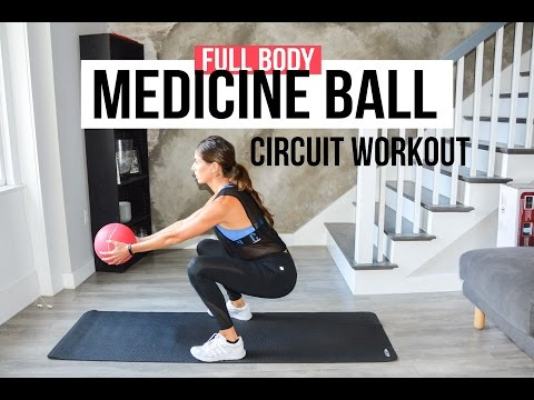 10 or 20-Minute Medicine Ball Interval Circuit Workout (Full Body)