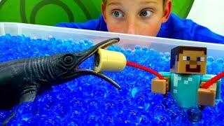 Видео игры для мальчиков. Стив Майнкрафт на рыбалке!