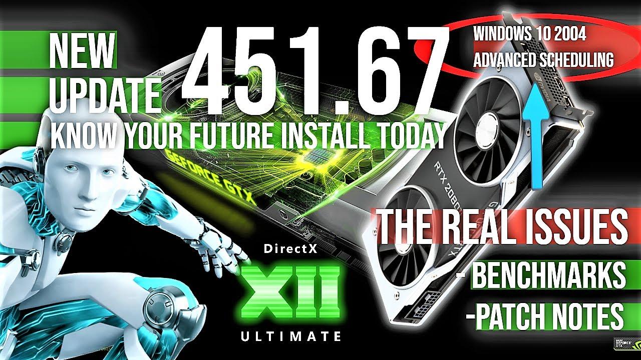 New Nvidia Game Ready Driver 451.67 update 💻 GPU News 2020