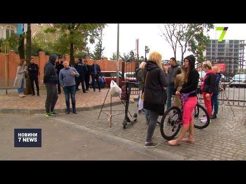Новости 7 канал Одесса: Мешканці Гагарінського плато не пустили будівельну техніку