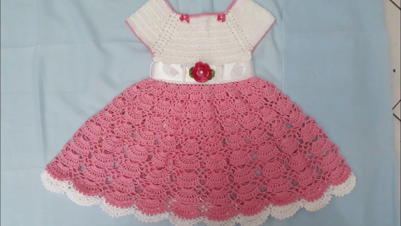 735ff10b8456 Vestido de crochê para princesas de 1 a 2 anos - YouTube