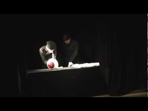 Puppetry in Poland - exam in Theatre Academy in Białystok - strange eye