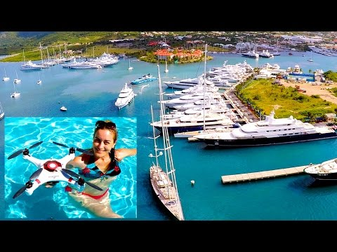"""MARINER"" DRONE First Flight Tutorial, filmed on Helideck of 200ft MegaYacht in St Maarten!"