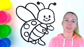 How to Draw Ladybug Baby Coloring with Watercolor Paints