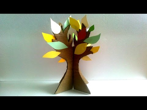Как сделать из бумаги дерево