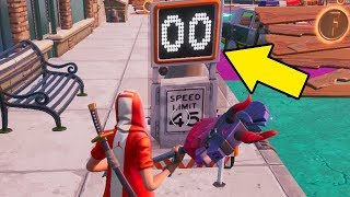 Go Faster Than 30 Through Both Speed Traps - Location Fortnite
