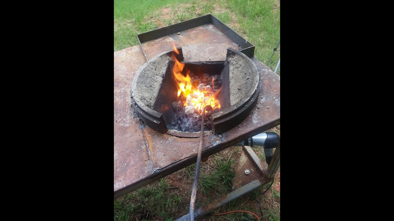 build a large brake drum forge with fire pot youtube