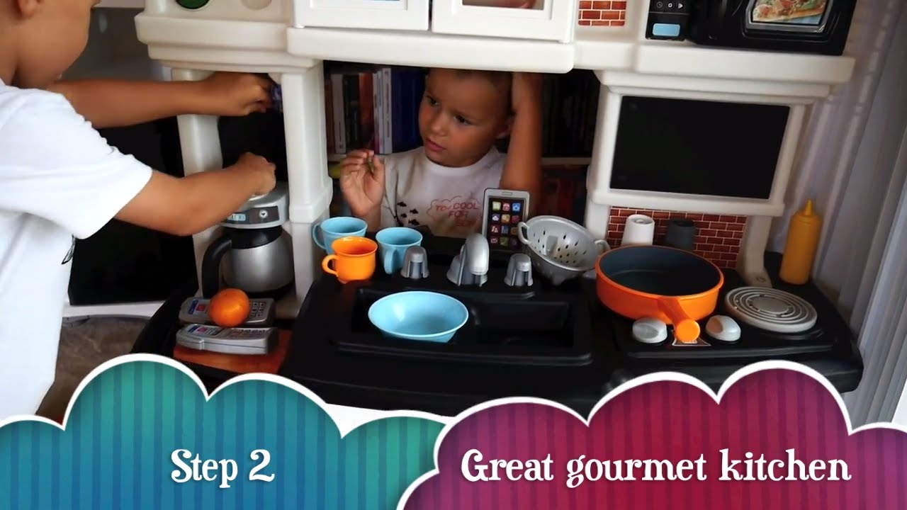 Step2 Great Gourmet Kitchen Set - YouTube