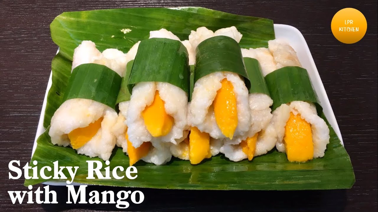 Mango Sticky Rice Recipe Sticky Rice With Mango Recipe How To Cook Sticky Rice With Mango Youtube