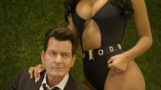 Maxim Cover Photo Shoot with Charlie Sheen and Parnia Porsche