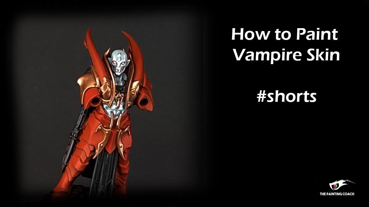 How to Paint Vampire Skin #shorts