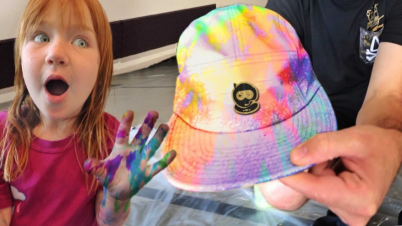 Adley & Niko Learn to Tie-Dye 🎨  Making Rainbow clothes at Dads work with Spacestation Gaming crew
