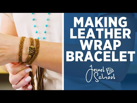 How to Make a Leather Wrap Bracelet | Jewelry 101