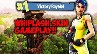 "Fortnite Battle Royale ""WHIPLASH"" Skin Gameplay (Victory Royale)"