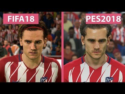FIFA 18 vs  PES 2018 – Graphics Comparison 4K - YouTube
