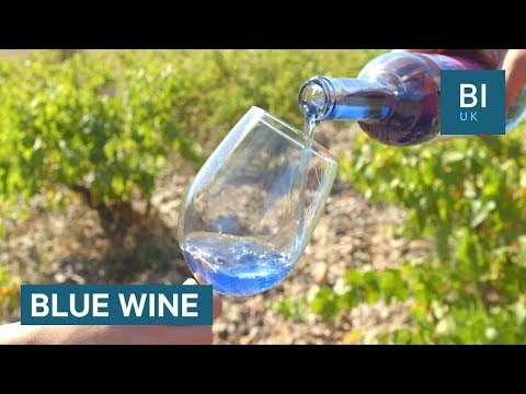 A Spanish startup is making wine that's naturally blue