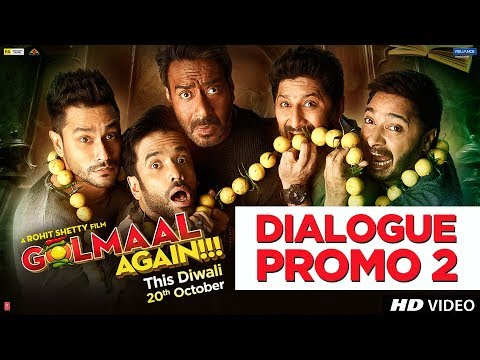 Golmaal Again Dialogue Promo 2 | Rohit Shetty | Ajay Devgn | Parineeti Chopra | 20th Oct 2017