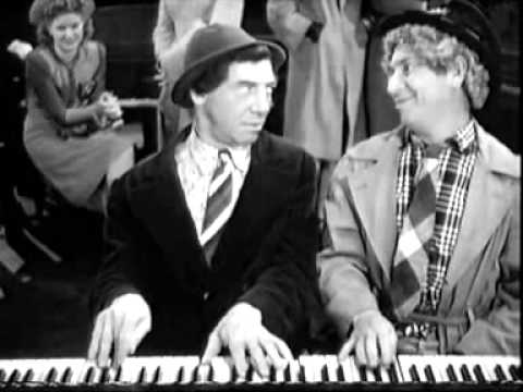 Chico and Harpo playing the Piano   The Marx Brothers The Big Store 1941