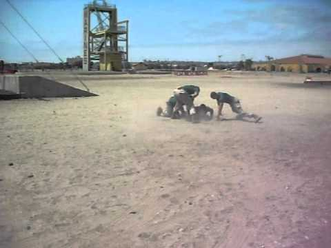 Marine getting smoked at MCRD San Diego by 3 Drill Instructors.