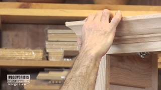 Woodworking DIY Project - Installing Crown Molding on a Cabinet