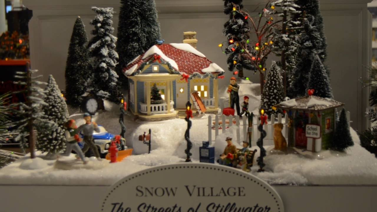 Quot Original Snow Village Streets Of Stillwater Quot Display