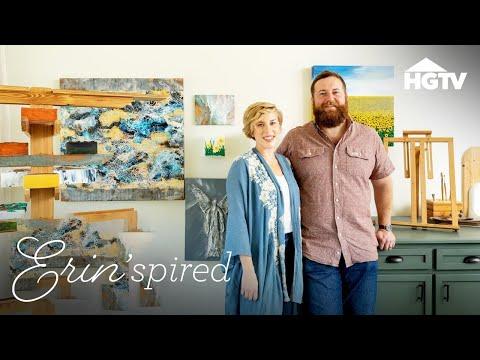 Designing a Professional Art Studio - Erin'spired - HGTV