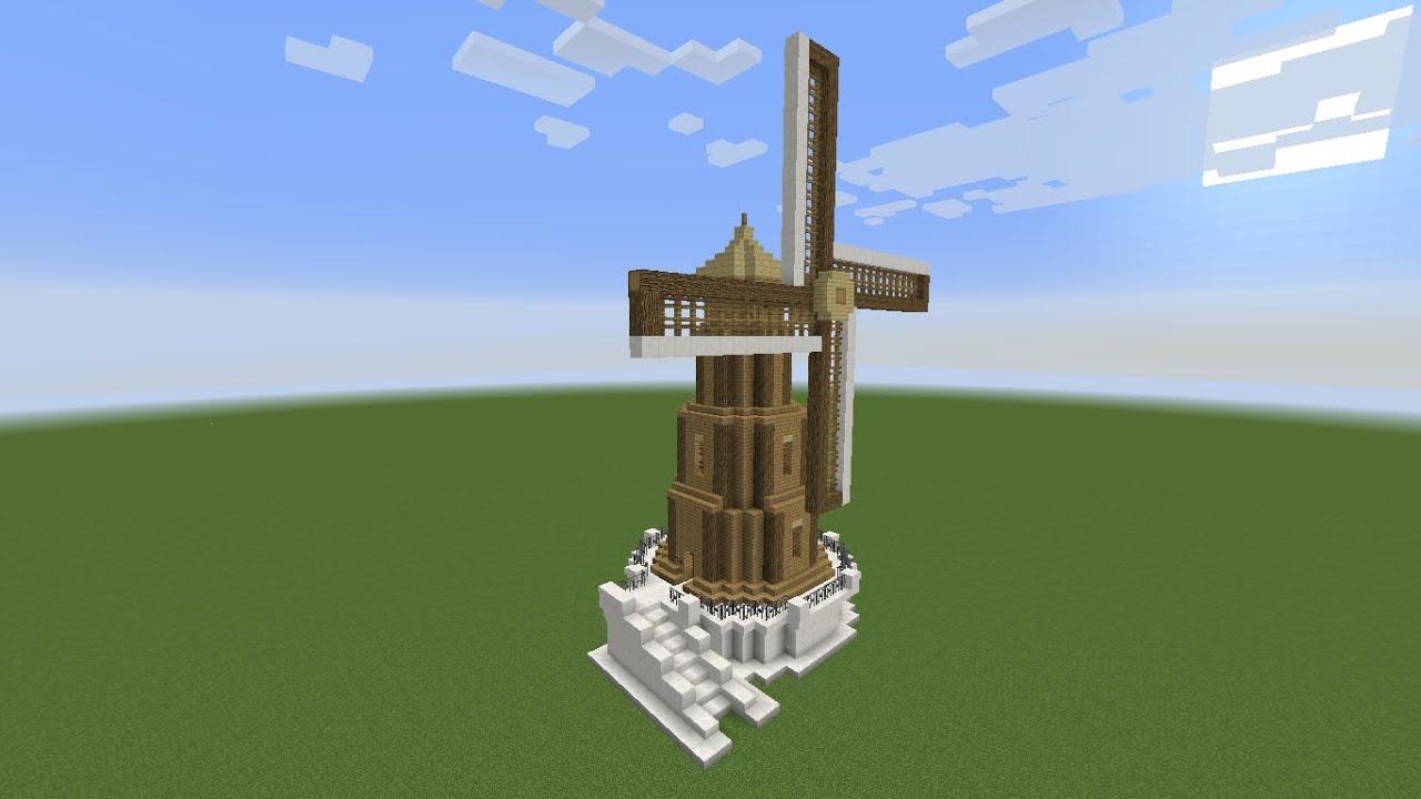 Minecraft Como Fazer um Moinho para Survival   #0B4CC0 1366x768
