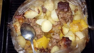 ✔ Индейка в рукаве с картошкой и кабачком