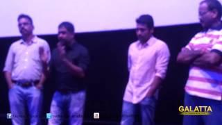 Suriya and Lingusamy at Anjaan Press Show