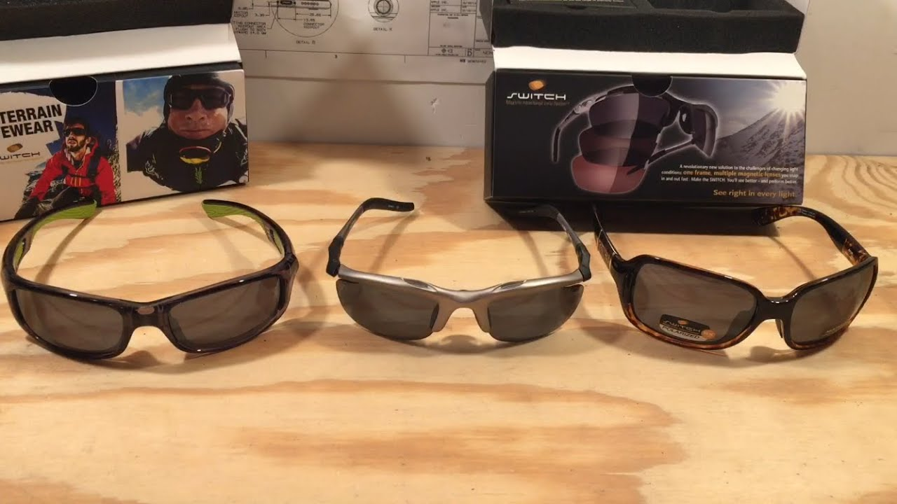 3916ff21e12 Switch Magnetic Interchangeable Sunglasses Review - YouTube