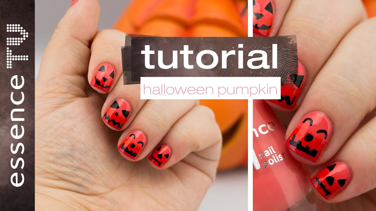 halloween nail art tutorial pumpkin kürbis ombre (deutsch) - für ...