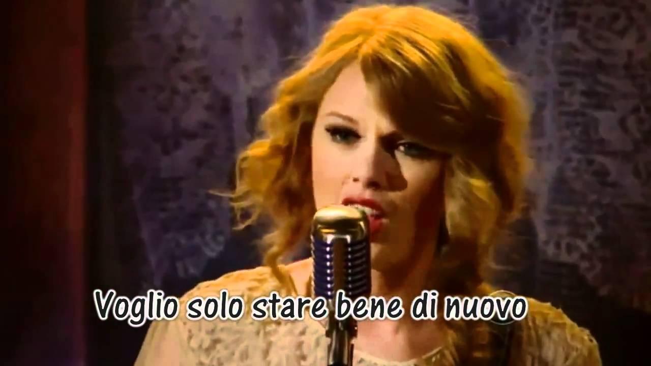 Taylor Swift Mean Traduzione Live Youtube