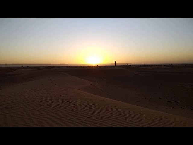 Sunrise in the Sahara Desert Morocco