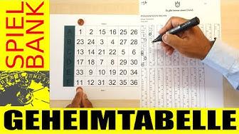 Roulette Geheim Tabelle !!! Gegen Spielbank Hamburg - Tisch 1 am 16.09.2016