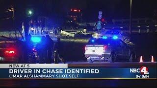 Driver in Delaware Co. chase shot himself