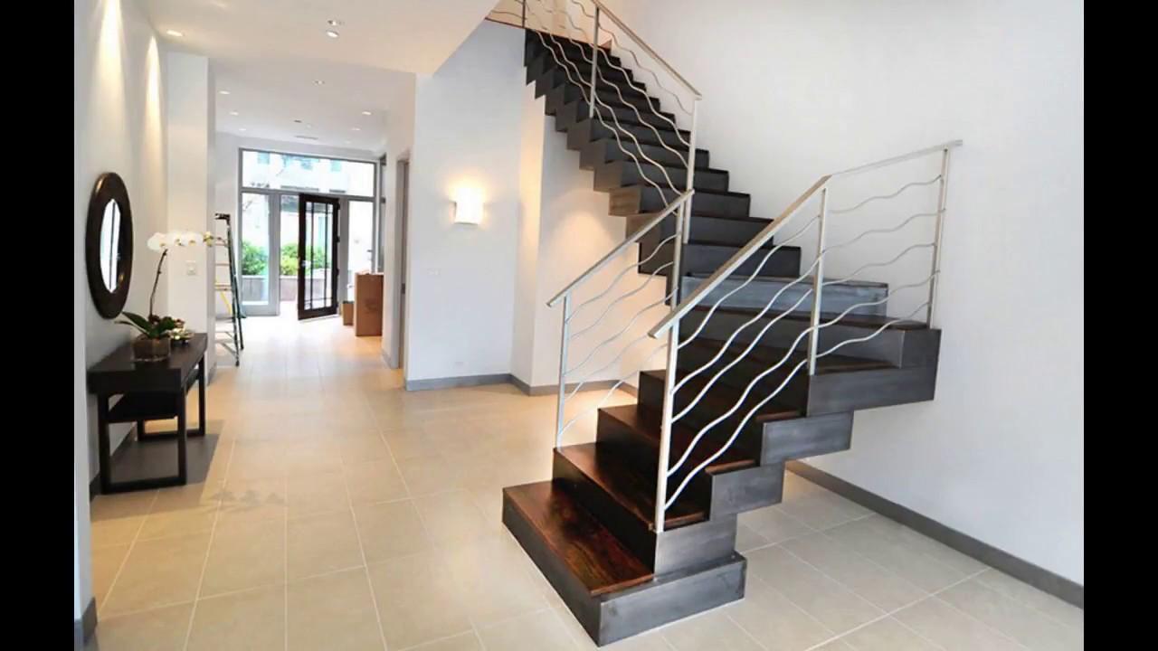 Railing Design For Staircase Modern Decor Ideas Spiral Steel   Steel Staircase Designs For Homes   New Model   Inside   Railing   Balcony   Unique