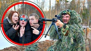 Экстремальные прятки в лесу против снайпера