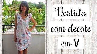 PASSO A PASSO – Vestido com decote em V