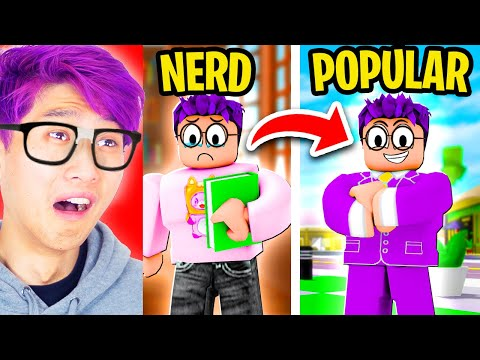 We Go From NERD To POPULAR In ROBLOX BROOKHAVEN RP! (HILARIOUS TRANSFORMATION!)
