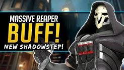 Overwatch HUGE Reaper Buff - New Shadowstep - Junkrat & Symmetra Buffs!