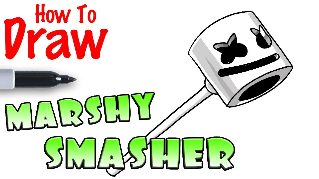 How To Draw Marshy Smasher Pickaxe Fortnite Youtube
