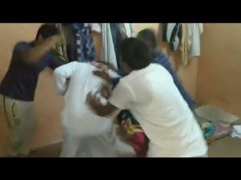 Pakistani workers beating arab in  saudi